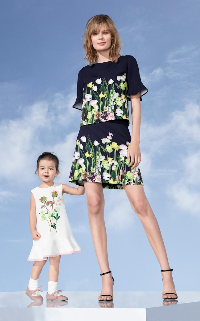 A lovely co-ordinating girls and grown-ups look from Victoria Beckham's Target collaboration - Credit: Courtesy of Victoria Beckham/ Target