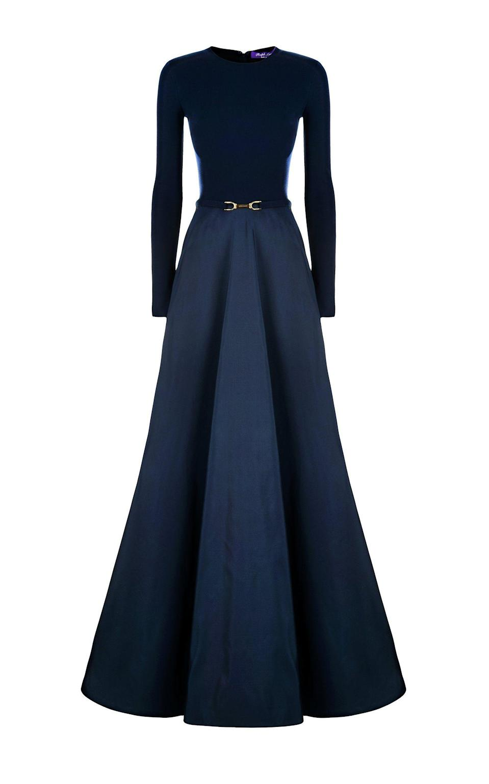 """<p><strong>Ralph Lauren</strong></p><p>modaoperandi.com</p><p><strong>$3290.00</strong></p><p><a href=""""https://go.redirectingat.com?id=74968X1596630&url=https%3A%2F%2Fwww.modaoperandi.com%2Fwomen%2Fp%2Fralph-lauren%2Fnadeesha-silk-evening-gown%2F503718&sref=https%3A%2F%2Fwww.harpersbazaar.com%2Fwedding%2Fbridal-fashion%2Fg36750122%2Fbest-mother-of-the-groom-dresses%2F"""" rel=""""nofollow noopener"""" target=""""_blank"""" data-ylk=""""slk:SHOP NOW"""" class=""""link rapid-noclick-resp"""">SHOP NOW</a></p><p>Meet the ultimate in black tie dressing. This look is formal and glam, yet undeniably sleek and modern for the mom after a bit of structure–and full coverage.<br></p>"""