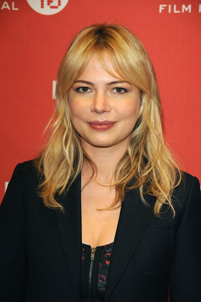 "With her lightly tousled blond locks hitting just below her shoulders, ""Dawson's Creek"" alum Michelle Williams had perfected girl-next-door gorgeousness. George Pimentel/<a href=""http://www.gettyimages.com/"" target=""new"">GettyImages.com</a> - January 24, 2010"