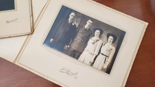 Arthur Jobling and Fran Cox's wedding photo from 1943 is one of the only pictures Sheila has of her father.