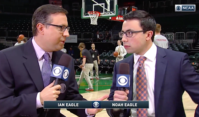 CBS' Ian Eagle and his son Noah called the same game on Saturday. No, really