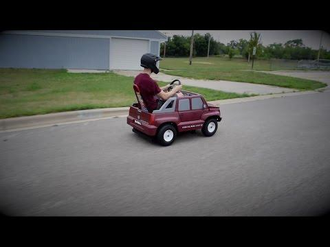 <p>What do you get when you take a five horsepower 160cc Honda engine and put it in a plastic Escalade designed for kids?</p><p>One epically fast motor that is in no way suitable for kids. This little beast can reach up to 40 miles per hour! Credit: YouTube/Kyle Kuta via Storyful</p>