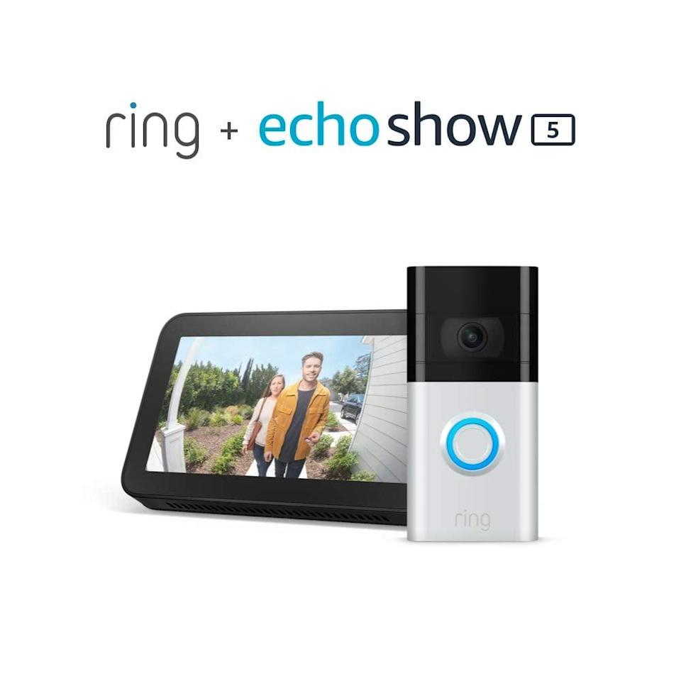 <p><span>Ring Video Doorbell 3 With Echo Show 5</span> ($150, originally $290)</p>