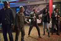 """<p><strong>The 1-Sentence Pitch:</strong> """"Four people with abilities from different corners of New York have to unite to take on a challenge,"""" says <em>Defenders </em>showrunner, Marco Ramirez, about Netflix's all-star Marvel team-up that unites Daredevil, Jessica Jones, Luke Cage and Iron Fist. """"But emotionally, it's really about four orphans who come together and form a family by accident.""""<br><br><strong>What to Expect:</strong> The heroes join up, <em>Avengers</em> style, to combat a new threat in the form of Sigourney Weaver's mysterious mastermind, Alexandra. """"This series has its own identity,"""" says Ramirez, who previously oversaw <em>Daredevil</em>'s second season with Doug Petrie. """"The tone is sewn together organically from the worlds of the other shows."""" That approach extends to the action sequences as well, which will naturally make room for the kind of <a rel=""""nofollow"""" href=""""https://www.yahoo.com/tv/daredevil-season-2-inside-that-bone-breaking-162240813.html"""" data-ylk=""""slk:bone-crunching hallway brawl;outcm:mb_qualified_link;_E:mb_qualified_link;ct:story;"""" class=""""link rapid-noclick-resp yahoo-link"""">bone-crunching hallway brawl</a> that Netflix's Marvel shows are famed for. """"We wanted to borrow all the fighting styles from the different shows,"""" teases Ramirez. """"My favorite is the <em>Jessica Jones</em>, 'I don't even want to f–king be here' kind of fight.""""<br><br><strong>Ripley 4EVA:</strong> The <em>Alien </em>franchise forever enshrined Sigourney Weaver in the action movie hall of fame. But even after all these years, she's eager to learn new fighting tricks. Ramirez remembers talking with the former Ellen Ripley about some of the fights featured in <em>The Defenders</em>. """"We were discussing fight choreography and vocabulary, and at some point, she said, 'That word is new to me. I'm not so much a martial arts type of gal — I'm more a 'hold the flamethrower' type of gal."""" <em>— EA</em><br><br>(Photo: Sarah Shatz/Netflix) </p>"""