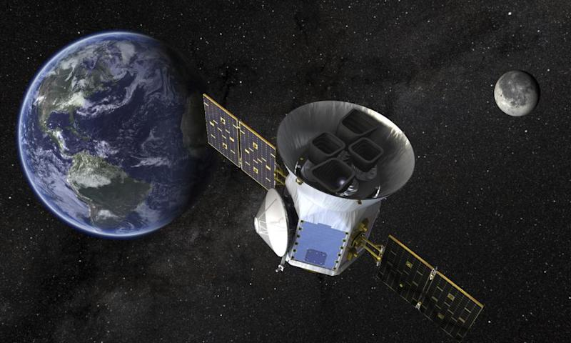 A Nasa illustration of the Transiting Exoplanet Survey Satellite (Tess).