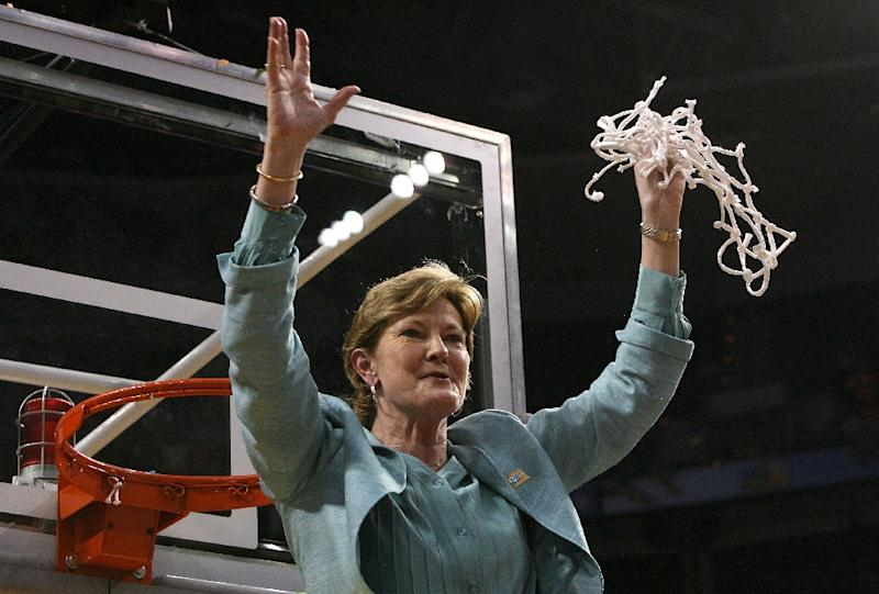 Pat Summitt, the former coach of the University of Tennessee women's basketball team, pictured in 2008