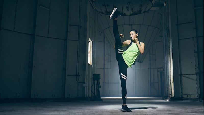 Zoe Zhang in an Under Armour ad campaign.