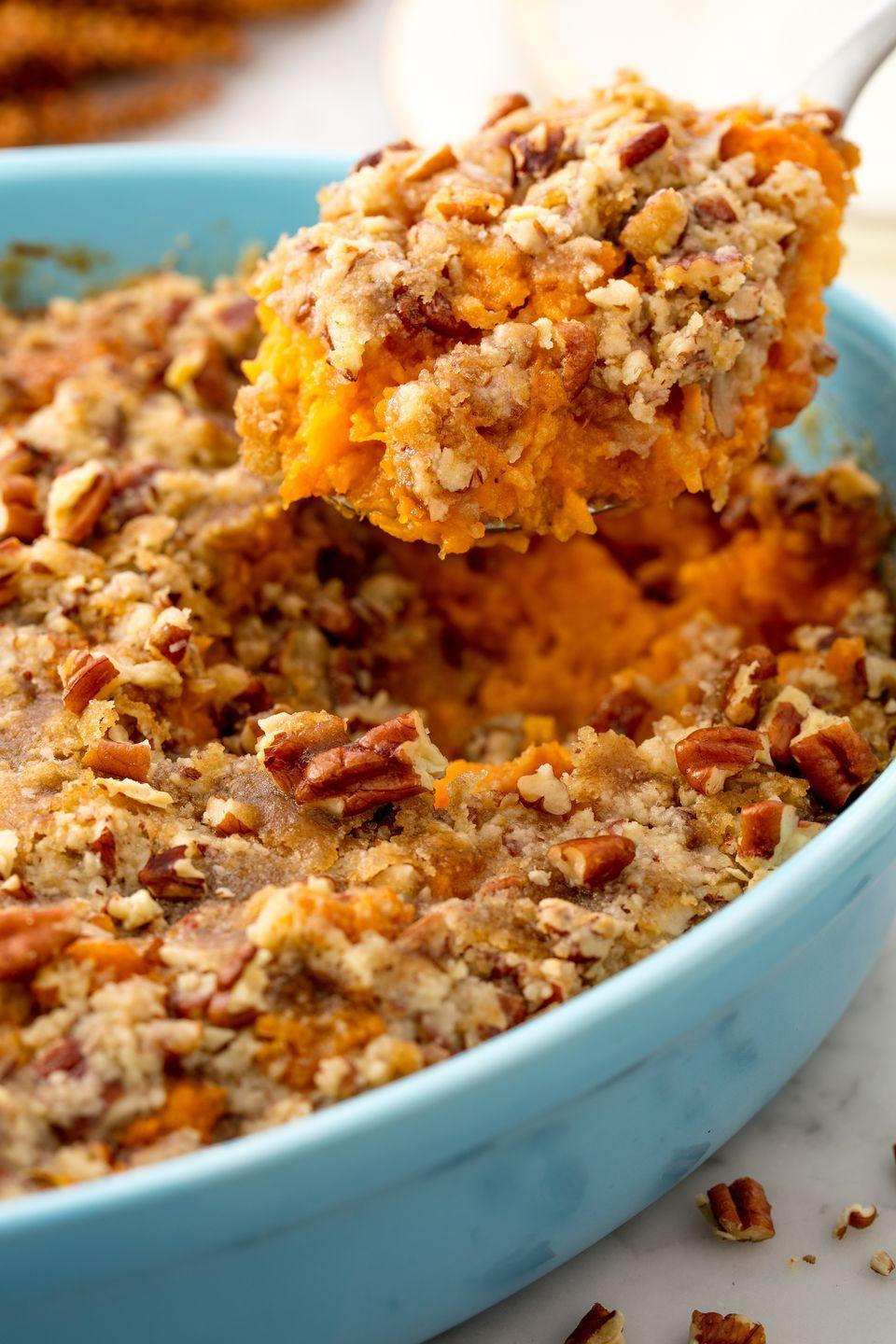 "<p>Everyone's favorite thanksgiving dish.</p><p>Get the recipe from <a href=""https://www.delish.com/cooking/recipe-ideas/recipes/a55342/sweet-potato-casserole-recipe/"" rel=""nofollow noopener"" target=""_blank"" data-ylk=""slk:Delish"" class=""link rapid-noclick-resp"">Delish</a>.</p>"