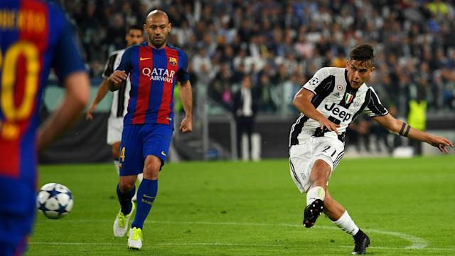 Paulo Dybala could still face Barcelona on Wednesday despite sustaining an injury, according to Juventus coach Massimiliano Allegri.