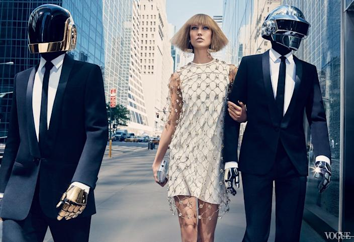 Karlie Kloss and Daft Punk took New York by storm in a 2013 editorial for Vogue.