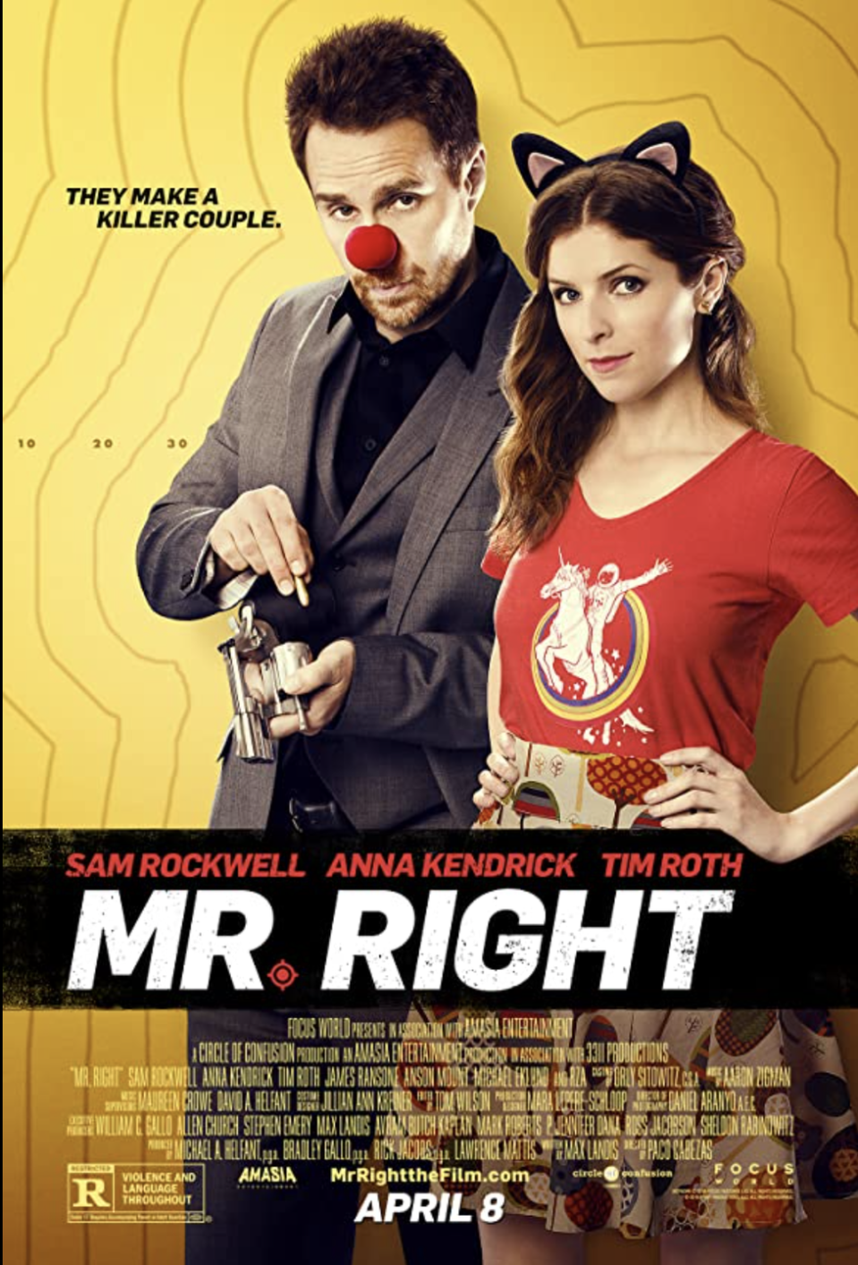 "<p>Anna Kendrick is her best quirky self in this rom-com. She falls for an actual assassin — but don't worry, he only takes out the bad guys — and soon she realizes she has a knack for the gig, too. </p><p><a class=""link rapid-noclick-resp"" href=""https://www.netflix.com/search?q=mr+right&jbv=80081154"" rel=""nofollow noopener"" target=""_blank"" data-ylk=""slk:STREAM NOW"">STREAM NOW</a></p>"