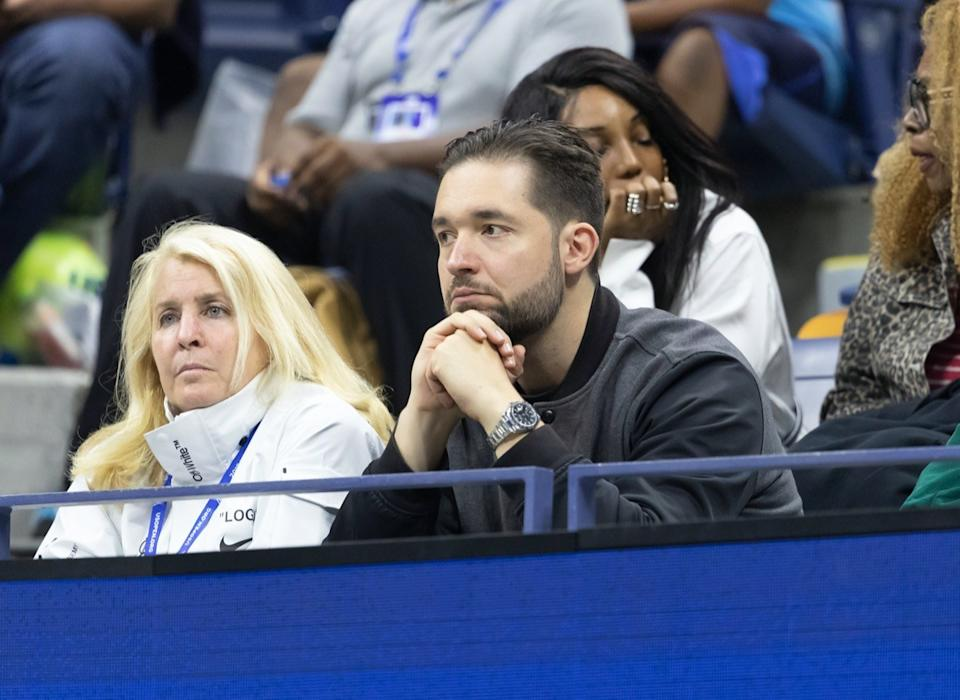 Alexis Ohanian at the US Open