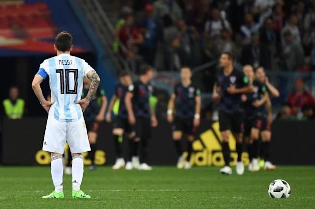 Lionel Messi carried Argentina on his back in qualifying but has been unable to inspire his country at the World Cup (AFP Photo/Dimitar DILKOFF)