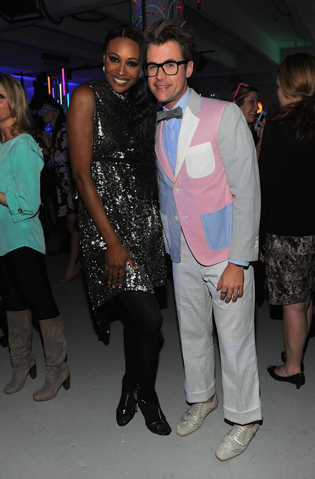 Cynthia Bailey and Brad Goreski attend Bravo's 2012 Upfront Event at Center 548 on April 4, 2012 in New York City.