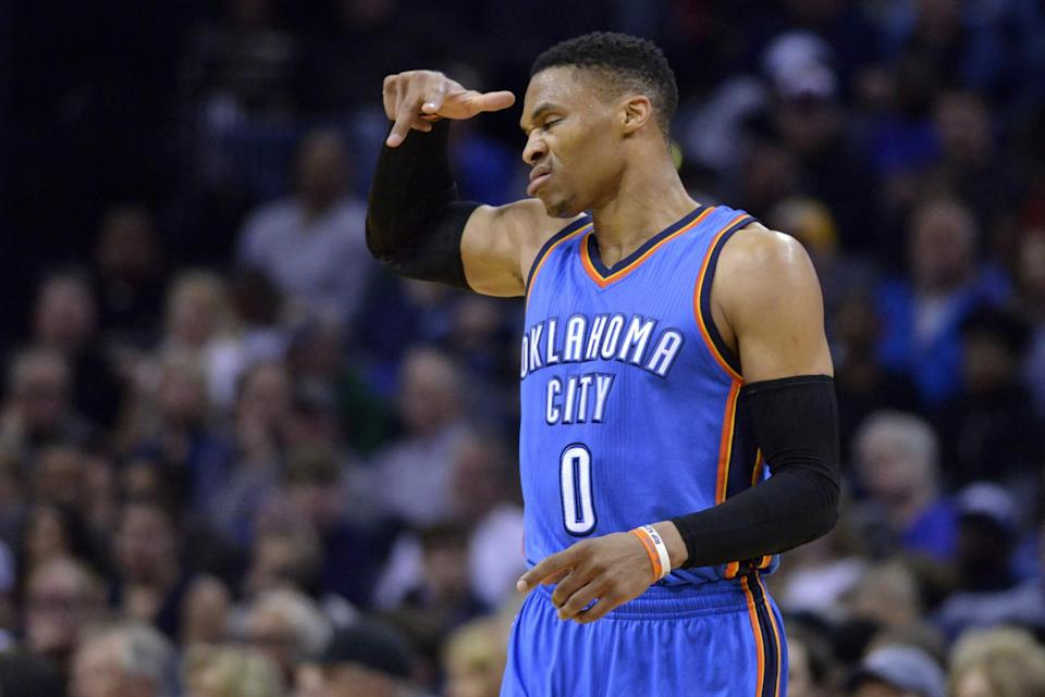 Russell Westbrook styles and profiles. (AP)