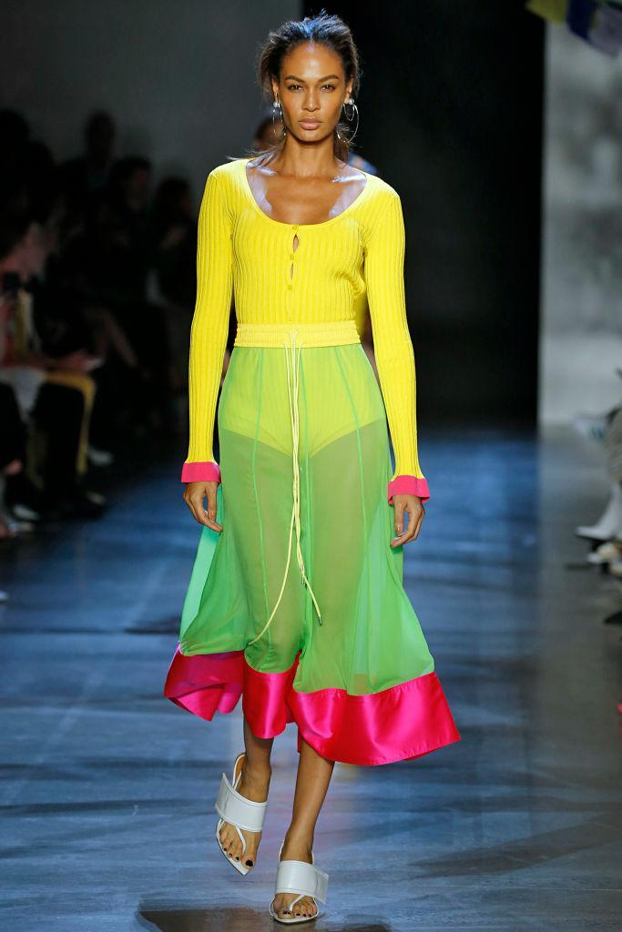 Joan Smalls walks the Prabal Gurung spring 2019 show during New York Fashion Week on Sept. 9, 2018. (Photo: Getty Images)
