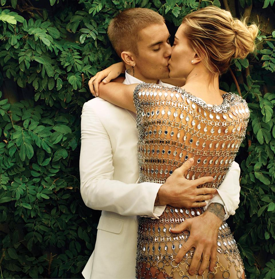The couple were married in September. (Photo: Annie Leibovitz/<i>Vogue</i>)