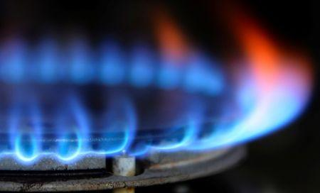 FILE PHOTO:  Illustration photo of a burner flame on a gas cooker