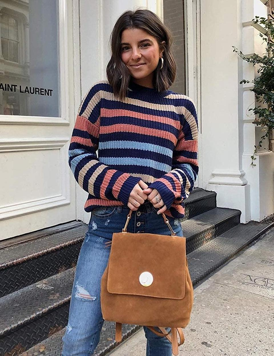 <p>The stripes on this <span>Kirundo Colorblock Sweater</span> ($29) are too cute.</p>