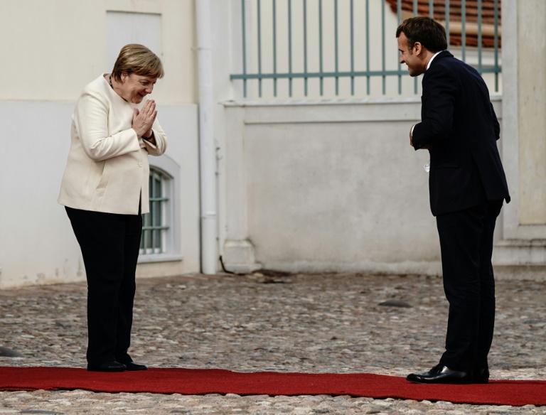 Socially distanced but together on the virus recovery fund scheme; Angela Merkel and Emmanuel Macron on Tuesday