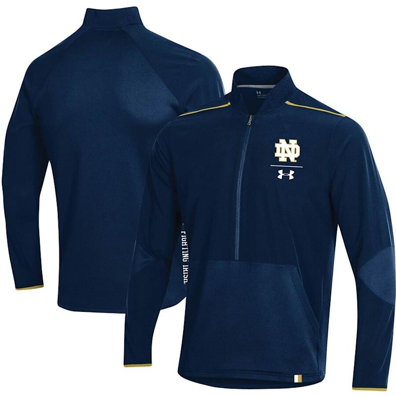 Notre Dame Fighting Irish Under Armour 2019 Sideline Evo Half-Zip Jacket