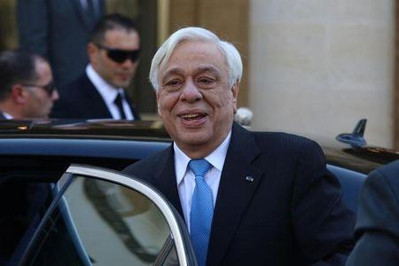 Greek President Prokopis Pavlopoulos arrives at the Presidential Palace in Nicosia