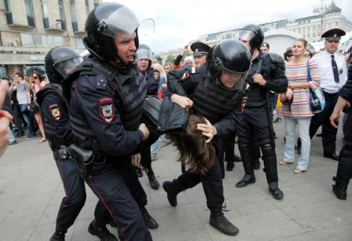 Navalny ally jailed over Russian opposition protests