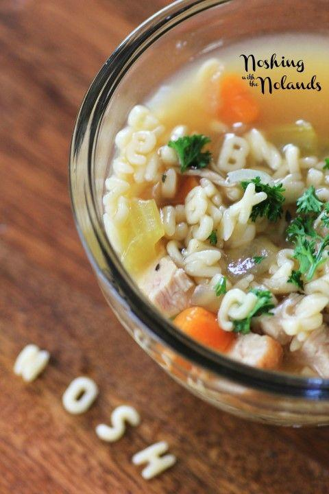 """<p>There might be a spelling lesson involved with a cup of homemade alphabet soup. </p><p><strong>Get the recipe at <a href=""""https://noshingwiththenolands.com/alphabet-soup/"""" rel=""""nofollow noopener"""" target=""""_blank"""" data-ylk=""""slk:Noshing With The Nolands"""" class=""""link rapid-noclick-resp"""">Noshing With The Nolands</a>.</strong></p>"""
