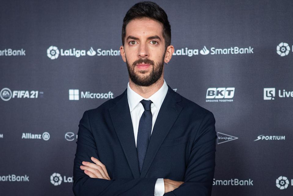 MADRID, SPAIN - JULY 30: Comedian David Broncano attends the LaLiga Champions gala red carpet at the Reina Sofia museum In Madrid on July 30, 2021 in Madrid, Spain. (Photo by Pablo Cuadra/Getty Images)