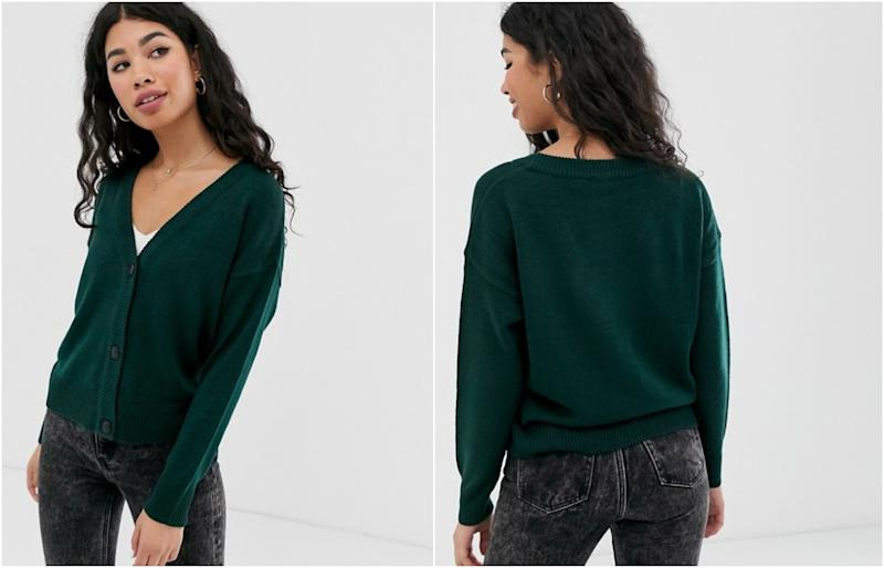 Brave Soul kiki cardigan in forest green