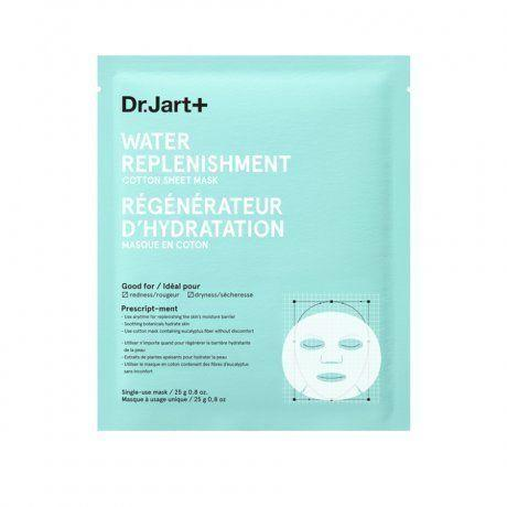 "<strong><a href=""https://www.sephora.com/product/water-replenishment-cotton-sheet-mask-P391363"" target=""_blank"">Dr. Jart water replenishment sheet mask</a>, $7.50</strong>"