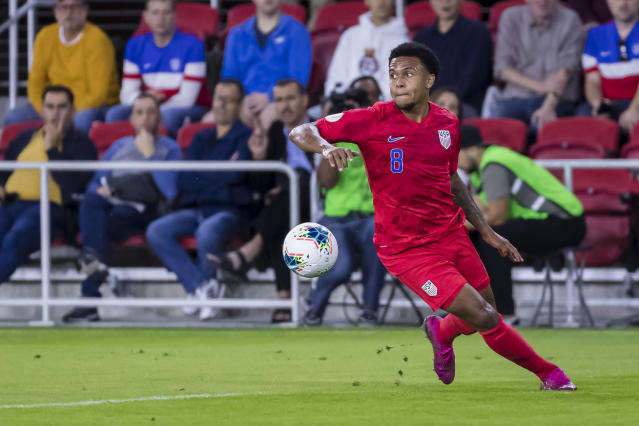 Weston McKennie and the current crops of talented USMNT youngsters must relocate the never-say-die attitude of the program's past. (Photo by Scott Taetsch/Getty Images)