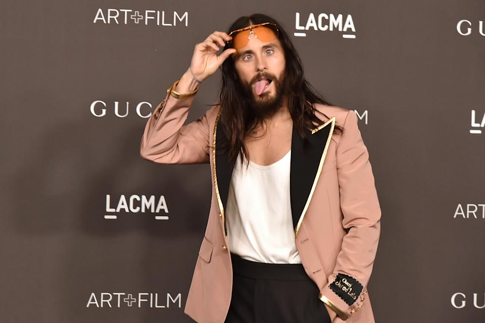 LOS ANGELES, CALIFORNIA - NOVEMBER 02: Jared Leto attends the 2019 LACMA Art + Film Gala  at LACMA on November 02, 2019 in Los Angeles, California. (Photo by David Crotty/Patrick McMullan via Getty Images)