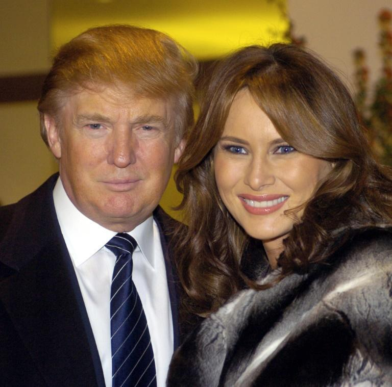 Donald Trump (L) and his wife Melania (R) are seen here in November 2005 in New York, a few months after their wedding -- his third, her first