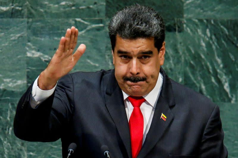 FILE PHOTO: Venezuela's President Maduro addresses the General Assembly in New York