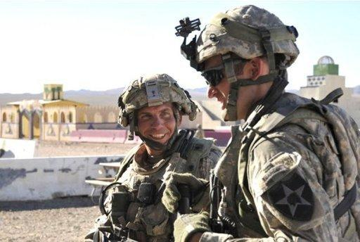 Staff Sgt. Robert Bales (L) at the National Training Center in Fort Irwin