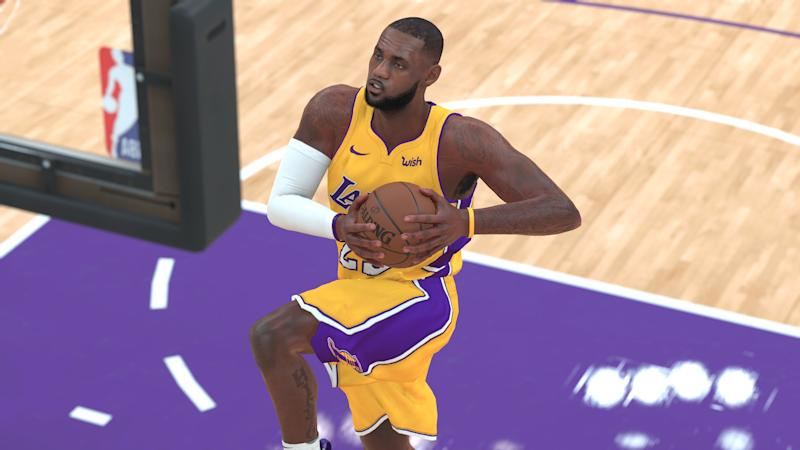 93c873ee16b NBA 2K18  shows LeBron James only turns Lakers into fringe playoff ...