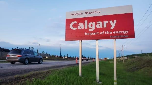 The word 'transition' was surreptitiously added below the 'be part of the energy' slogans on signs welcoming drivers to Calgary in June 2020. The focus of much of this year's CERAWeek conference has been on the energy transition. (Twitter - image credit)
