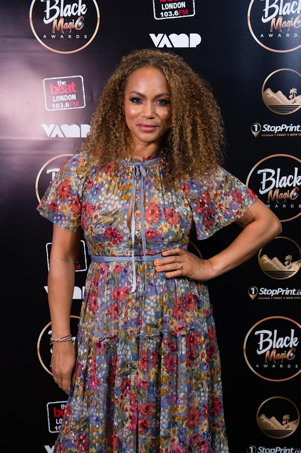 Actress and TV personality Angela Griffin (above) says she determined not to let her daughters inherit her body insecurities.