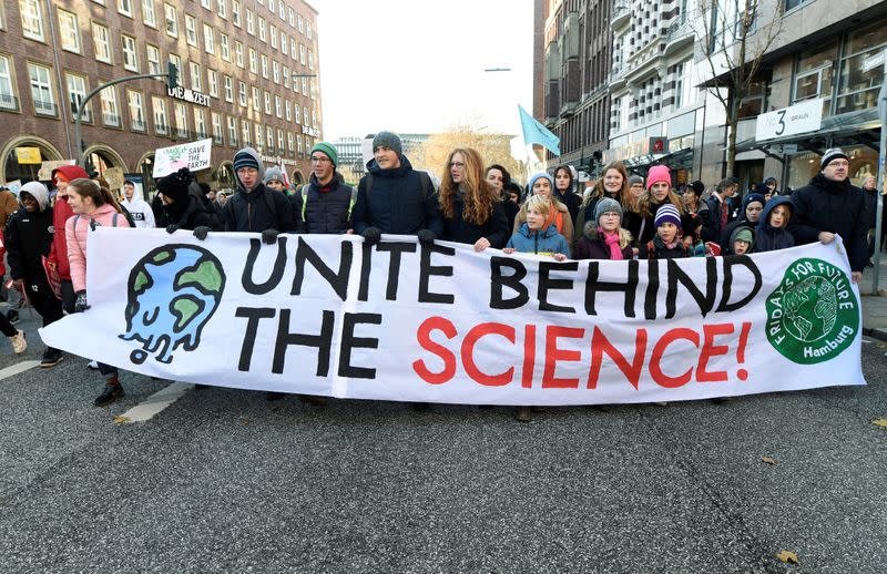 Global Climate Strike of the Fridays for Future movement in Hamburg