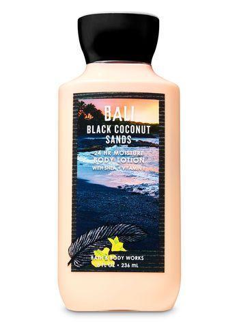 """<p>This apricot-scented body lotion combines creamy <a href=""""https://www.refinery29.com/en-us/coconut-milk-beauty-products"""" rel=""""nofollow noopener"""" target=""""_blank"""" data-ylk=""""slk:coconut milk"""" class=""""link rapid-noclick-resp"""">coconut milk</a> with the unexpected spiciness of black sand and sea salt. The result is a sweet scent that isn't too cloying.</p> <br> <br> <strong>Bath & Body Works</strong> Black Coconut Sands Super Smooth Body Lotion, $12.5, available at <a href=""""https://www.bathandbodyworks.com/p/black-coconut-sands-super-smooth-body-lotion-023993639.html?cgid=body-care-promotion#start=21"""" rel=""""nofollow noopener"""" target=""""_blank"""" data-ylk=""""slk:Bath & Body Works"""" class=""""link rapid-noclick-resp"""">Bath & Body Works</a>"""