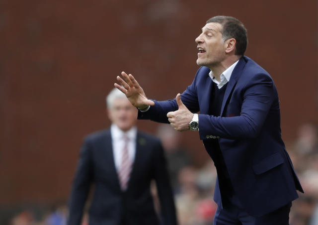 """<p>Britain Football Soccer – Stoke City v West Ham United – Premier League – bet365 Stadium – 29/4/17 West Ham United manager Slaven Bilic Action Images via Reuters / Carl Recine Livepic EDITORIAL USE ONLY. No use with unauthorized audio, video, data, fixture lists, club/league logos or """"live"""" services. Online in-match use limited to 45 images, no video emulation. No use in betting, games or single club/league/player publications. Please contact your account representative for further details. </p>"""
