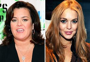 Rosie O'Donnell, Lindsay Lohan    Photo Credits: Taylor Hill/WireImage, Amy Graves/WireImage