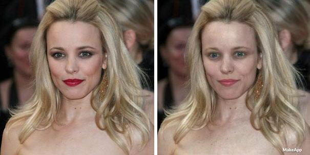 <p>Here's Rachel McAdams with a more toned down look. </p>