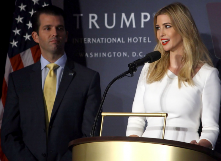 Eric Trump said his sister influenced their father's decision to launch military action in Syria (Rex)