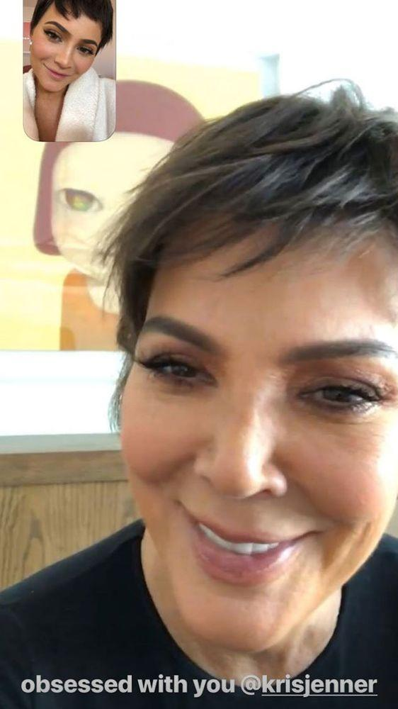 Kylie Jenner Is Kriss Twin With This New Short Haircut