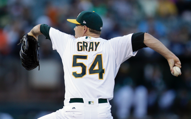 "<a class=""link rapid-noclick-resp"" href=""/mlb/players/9459/"" data-ylk=""slk:Sonny Gray"">Sonny Gray</a> grabbed a win, and an inverted W, in Wednesday's start (AP)"