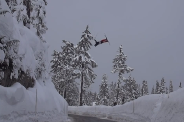 skier-faceplant-jump-road-washington-video