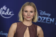 """FILE - In this Nov. 7, 2019 file photo, Kristen Bell arrives at the world premiere of """"Frozen 2"""" in Los Angeles. The International Academy of Digital Arts and Sciences announced that Bell is among the 2020 Webby Award winners for the home internet celebration, dedicated to honoring individuals and organization who are using the internet in response to the coronavirus pandemic. (Photo by Jordan Strauss/Invision/AP, File)"""