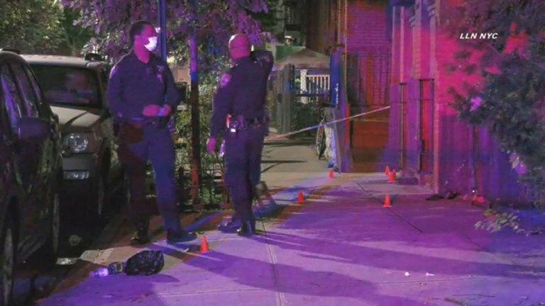 Pictured is police at the scene where Ethan was shot. Source: CBS2
